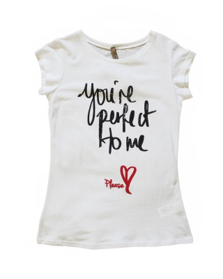 "T-Shirt ""You´re perfect home"" weiß"