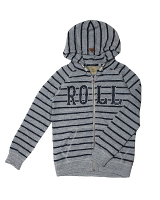 Special friendship zip through hoody 126964/1544-07.40514/A, grau/blau