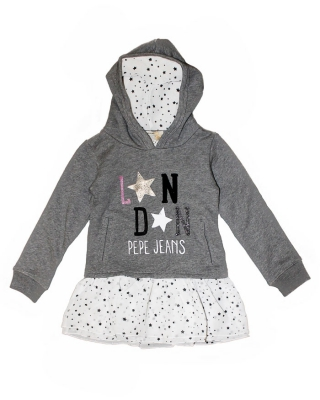 """Elaine Kids"" Sweatkleid, PG580308/975, dark grey"