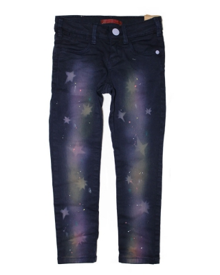 5-pocketpants with galaxy dye effect, 126901/1554-08.80402/B, blue