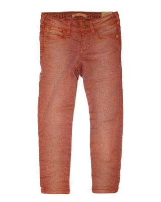 5-pocket pants with galaxy dye effect 126901/1554-08.8040, apricot