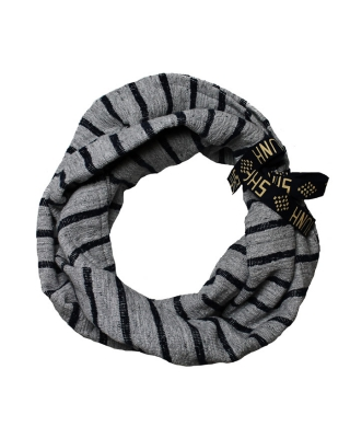 Tunnel scarf in sweat quality, 126743/1544-08.70507/A grey/blue,