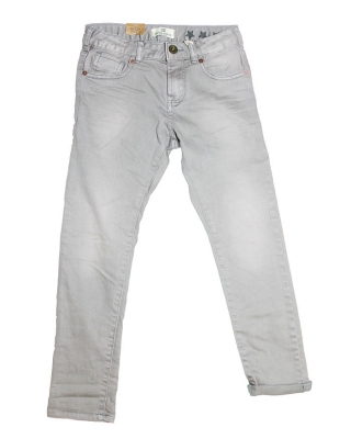 5-pocket rocker pants with heavy washing, 126773/1544-08.80507/89 grey