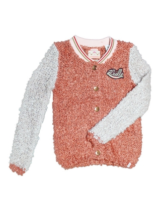 Cunky Knitted bomber 126856/1554-08.60409/29 rosé/apricot