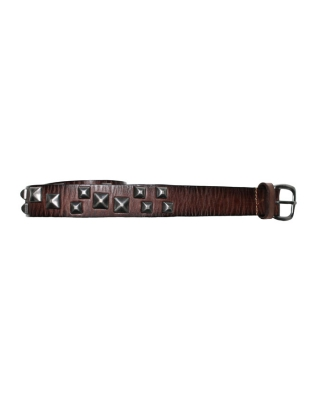 Embellished leather belt, 126753/1544-08.76500/B, brown