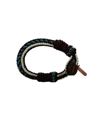 bracelet, 126766/1544-08.78500/L, aqua/white/brown