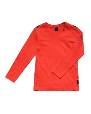 bedrucktes langarm T-Shirt, SB7078.050.2660.542, orange