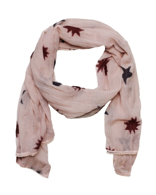 Boiled wool scarf, 126862/1554-08.70401/B, rosé