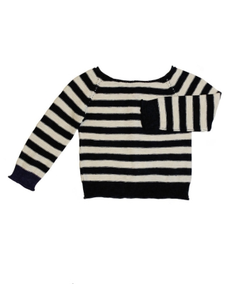 2 in one Cardigan Sweater navy/off-white
