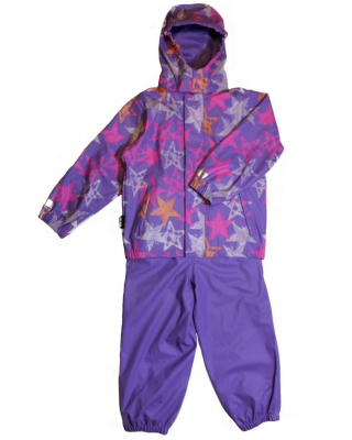 """Rubber Rain Set"" Dahlie Purple Star"