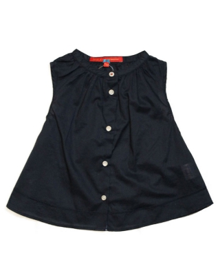wide sleeveless blouse dark blue